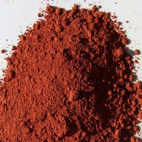 pigment ocre rouge foncé de provence en poudre du vaucluse