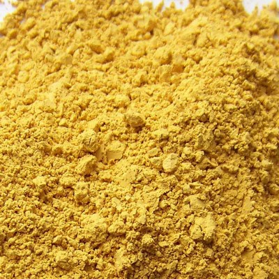yellow ochre icles pigment from veneto
