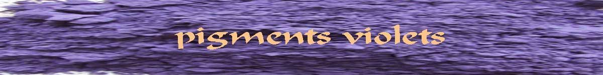 pigments violets - terres et ocres - COULEUR PIGMENTS